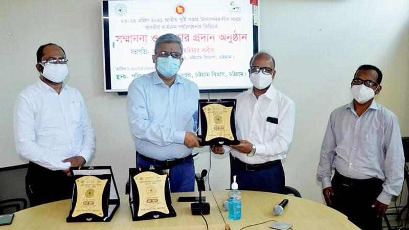 জাতীয় পুষ্টি সপ্তাহে চাঁদপুর জেলা স্বাস্থ্য বিভাগের ৩য় স্থান অর্জন